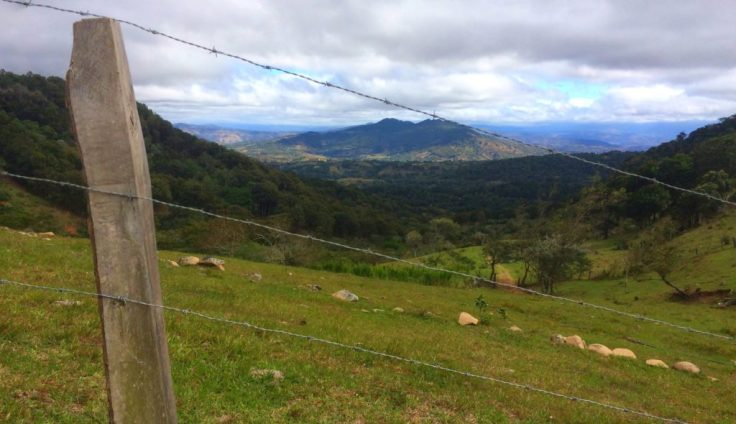 Overlooking the valley on the way to Albertos home a man some call crazy
