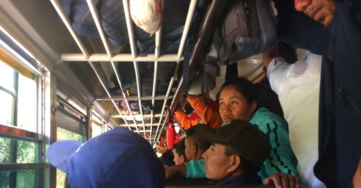 crowded Chicken bus