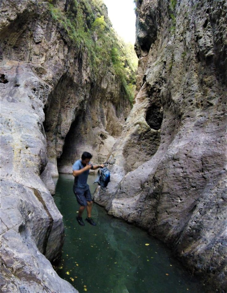Jumping into Somoto Canyon