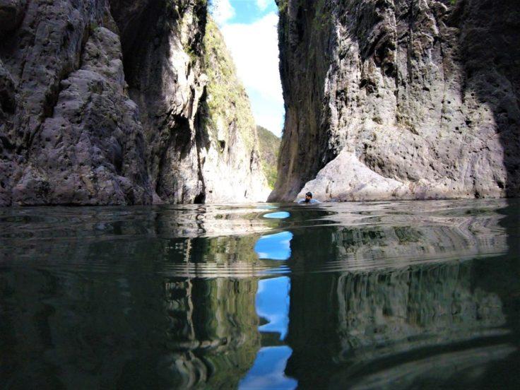 Swimming through Somoto Canyon