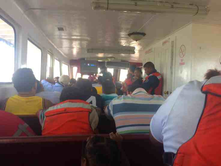 The small cabin inside the ferry was part of the Treacherous Journey to Corn Islands
