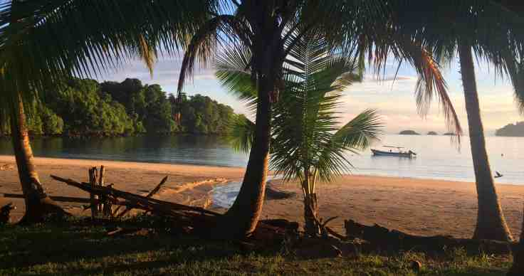 sunset in Coiba