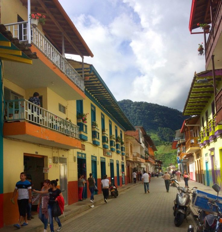 Street in Jardín Colombia