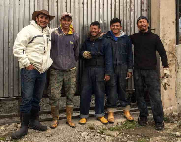 Left to right: Boris, director of Dunamis, Jose, Limber, Santiago, and Trinity