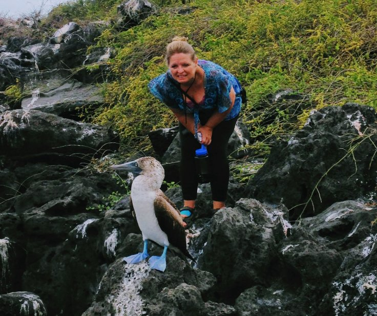 Blue Footed boobie and Bonnie
