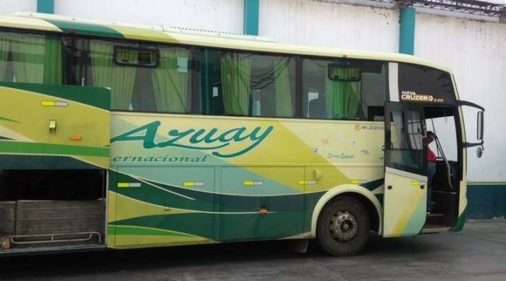 The Azuay bus from Cuenca to Peru