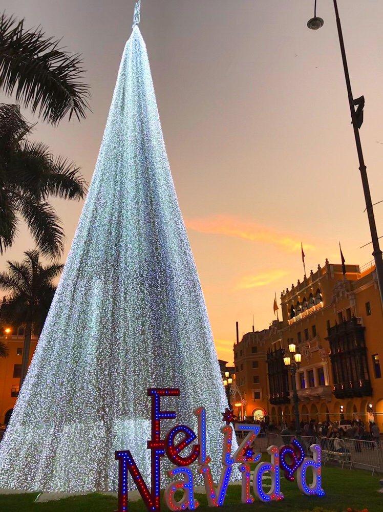 Plaza de Armas Christmas in Lima, Peru