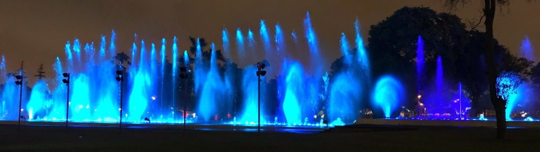 Fuente de la Fantasía in Circuito Mágico del Agua (Magic Water Circuit) Christmas in Lima Peru