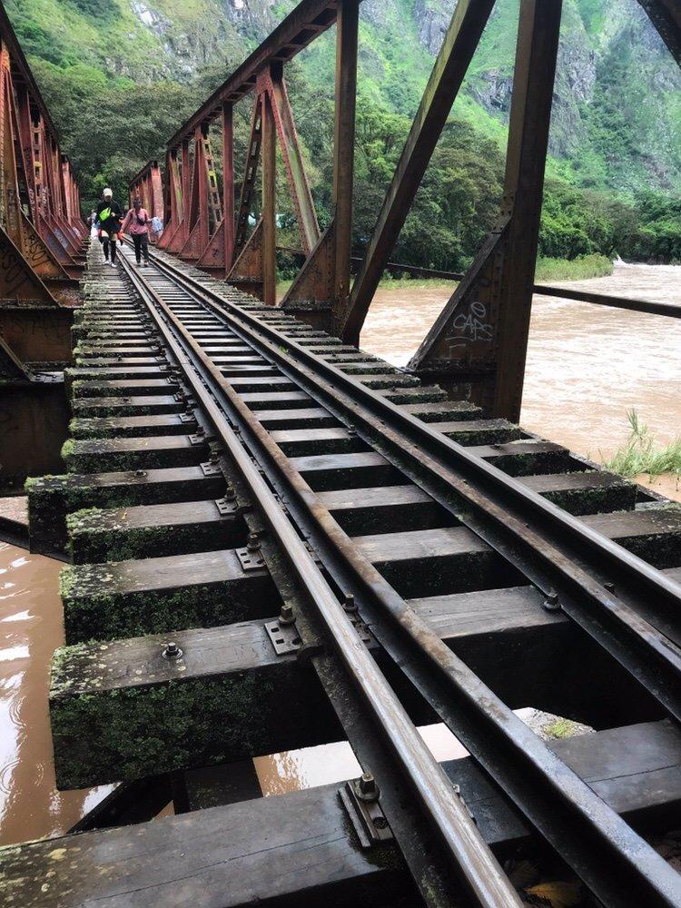 Railroad bridge on the Machu Picchu Hike