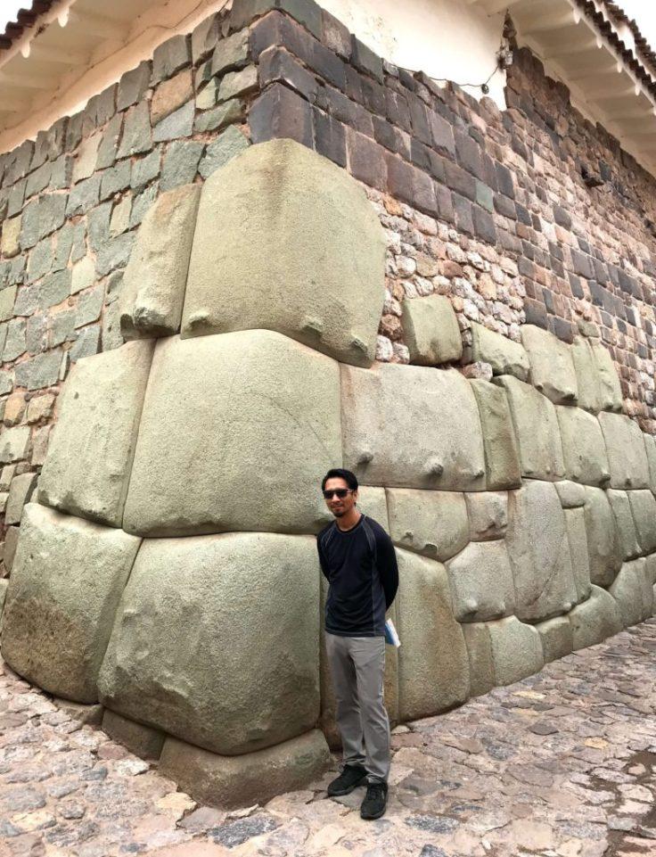 Ancient Inca ruins in modern day Cusco