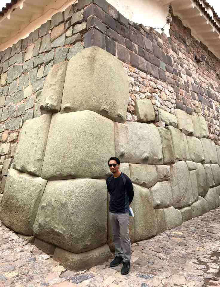 Ancient Inca ruins in modern day Cusco