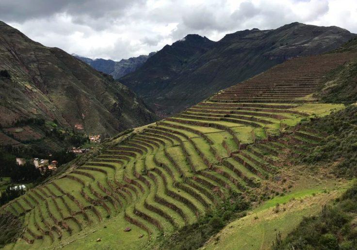 Ancient Inca ruins Terraces of Pisac