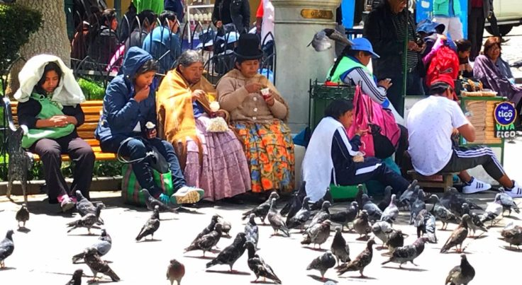 People of La Paz, city in the sky
