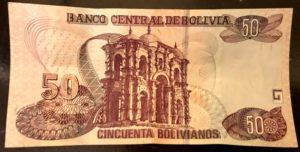 Bolivia tourism 50 Bolivianos