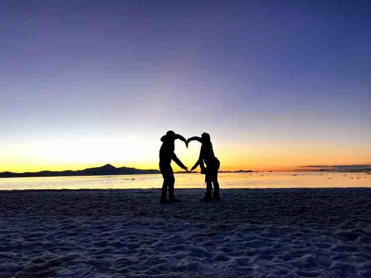Uyuni Salt Flats Silhouette