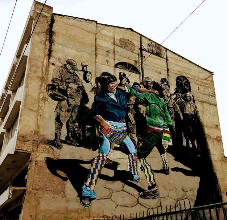 The Tinku, street art Bolivia tourism