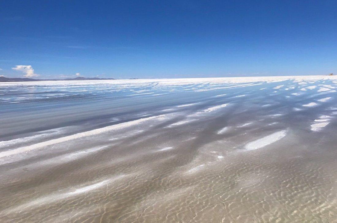 Uyuni Salt Flats with water