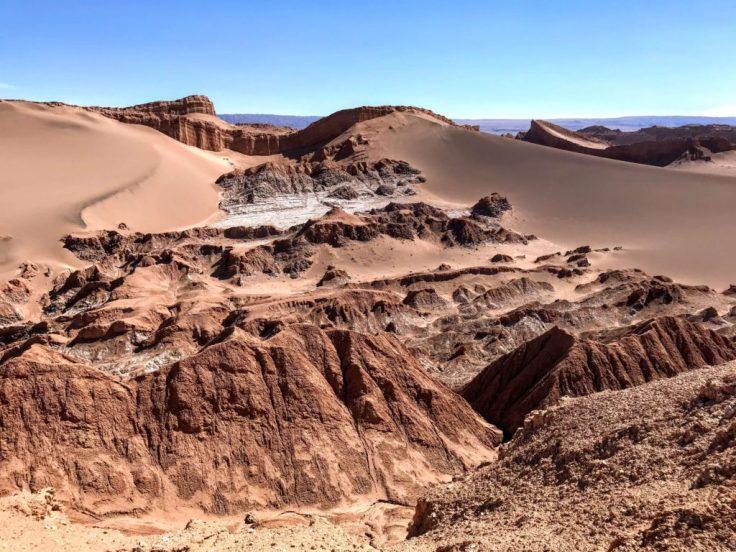 Valley de la Luna of the Atacama, examples of resilience