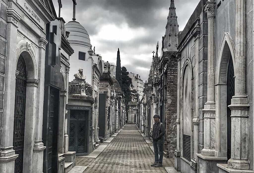 Ally in the Recoleta Cemetery