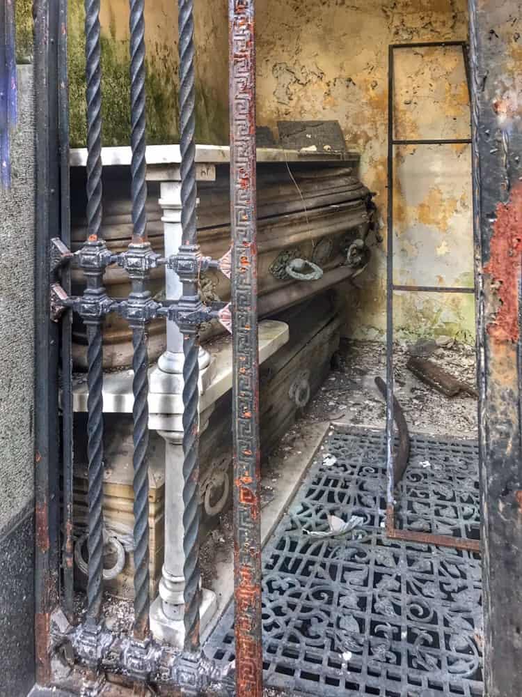 Open Crypt in the Recoleta Cemetery