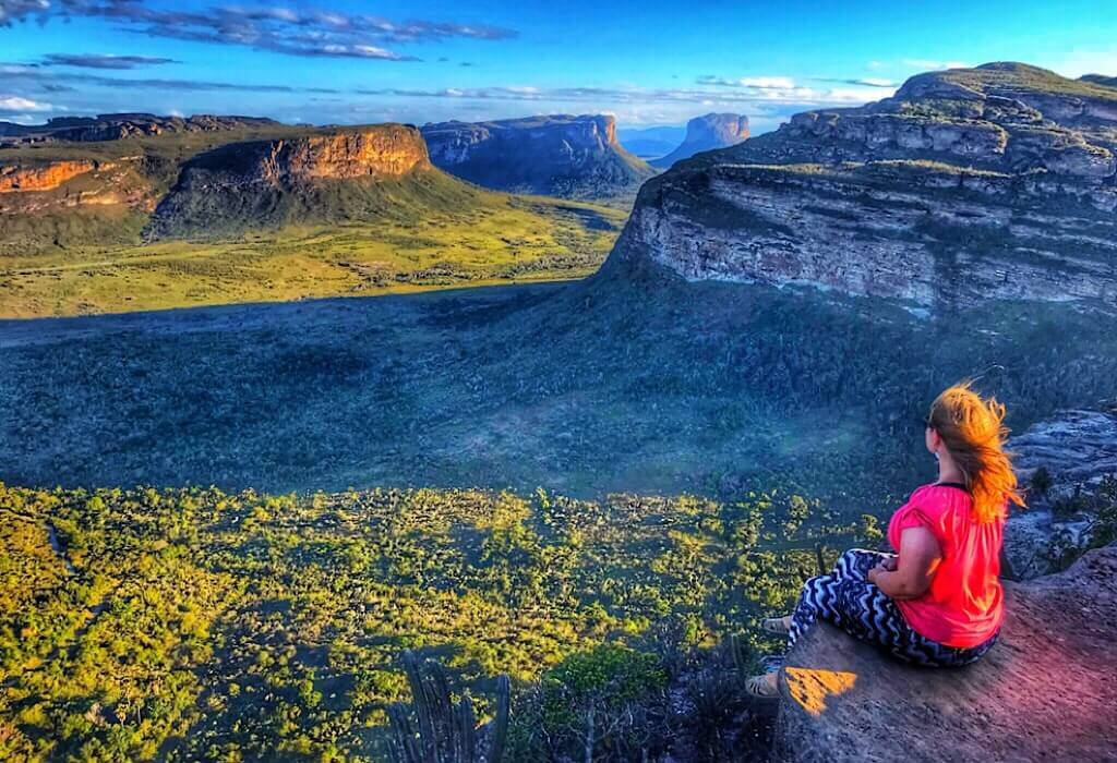 View in Chapada Diamantina from the highest point in the park
