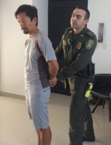 Trin being arrested in Colombia (fake news)