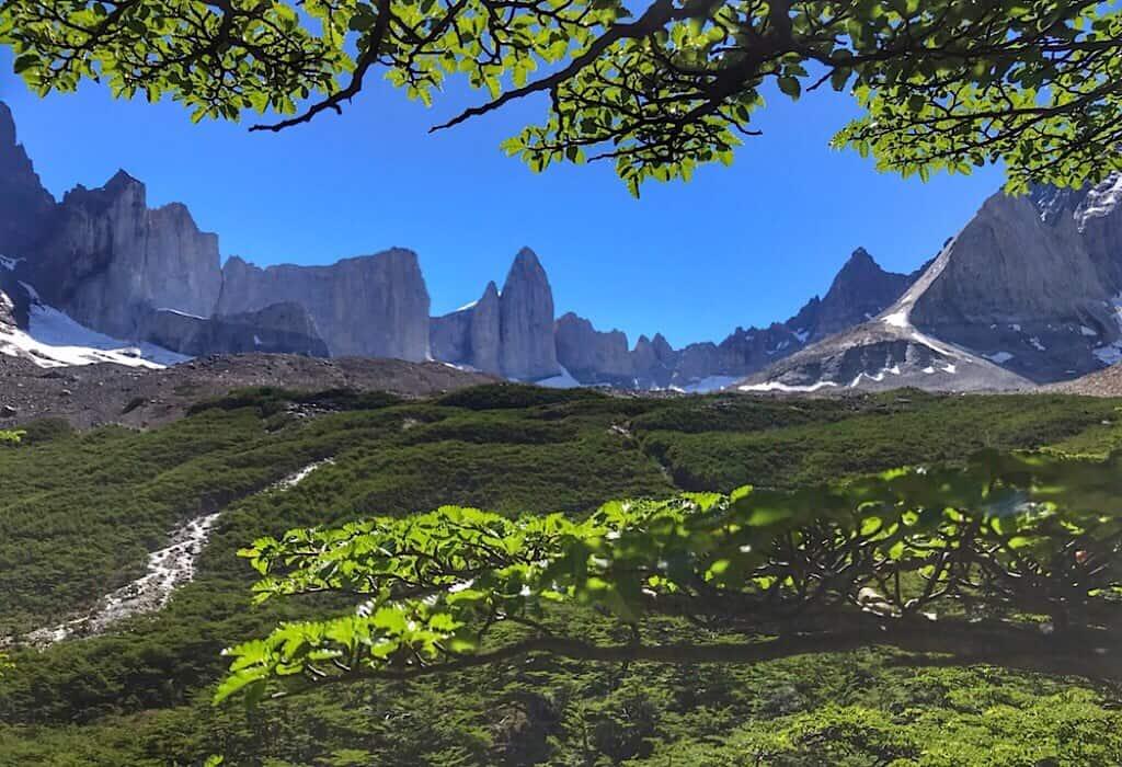 Torres del Paine W Trek Britanico outlook