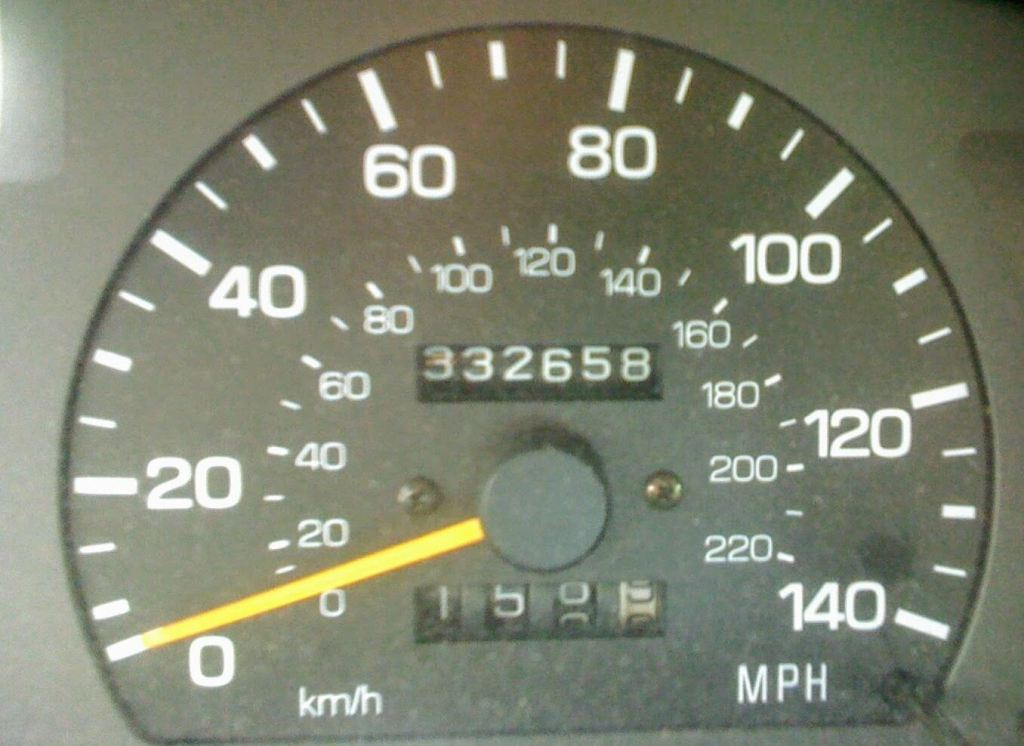 Odometer reading 332,658 miles