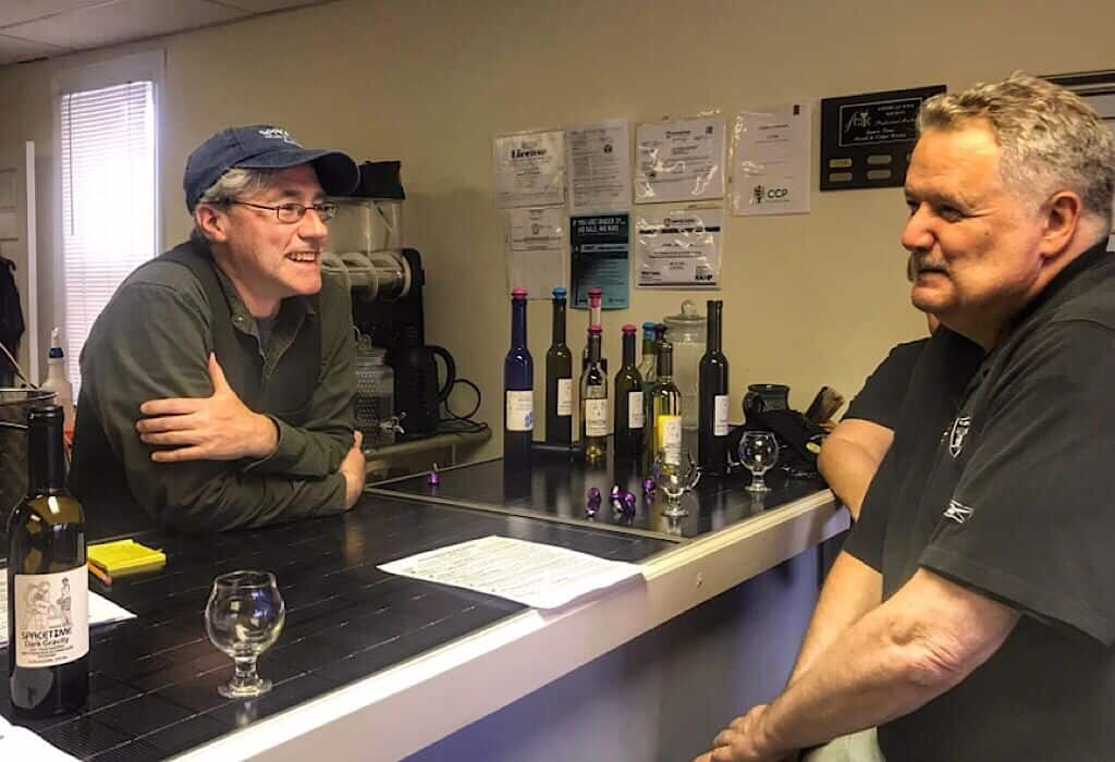 Dan and Jack at Spacetime mead, maker of mead, nectar of the gods