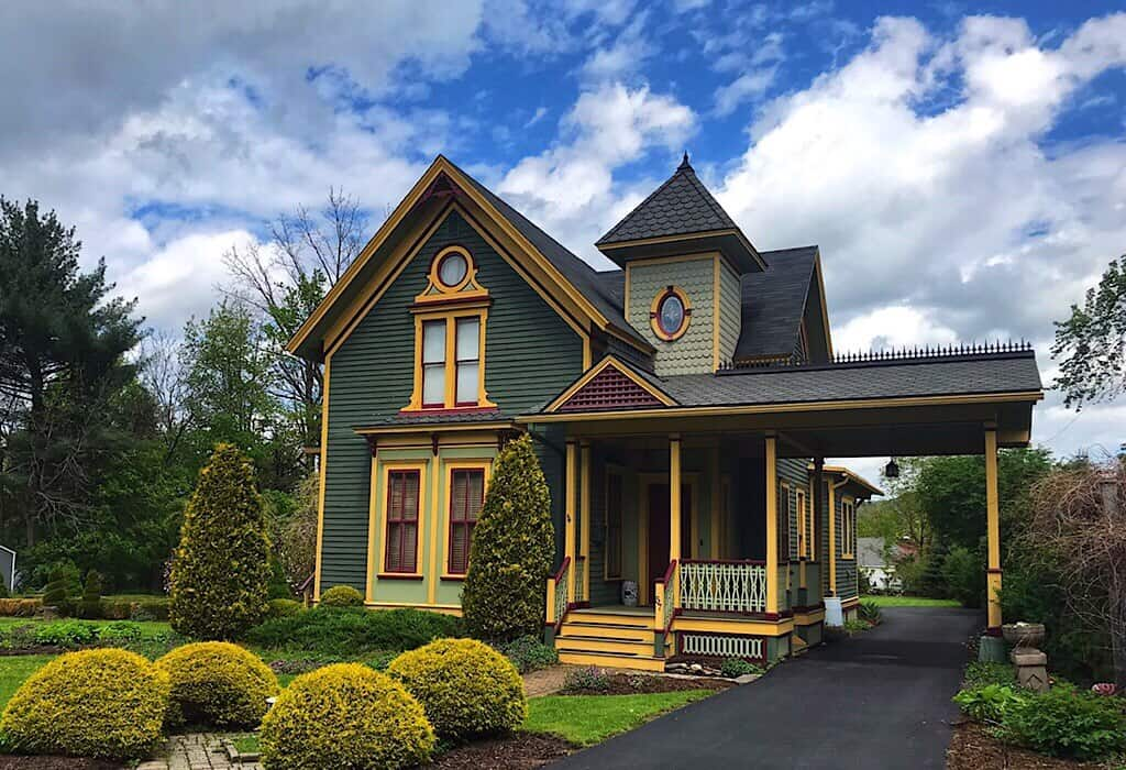 Victorian Style home in Wellsboro above the pine creek valley