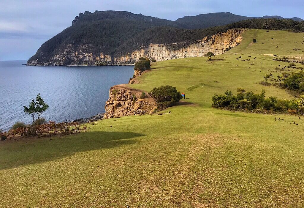 Meadows on Maria Island overlooking the fossil cliffs