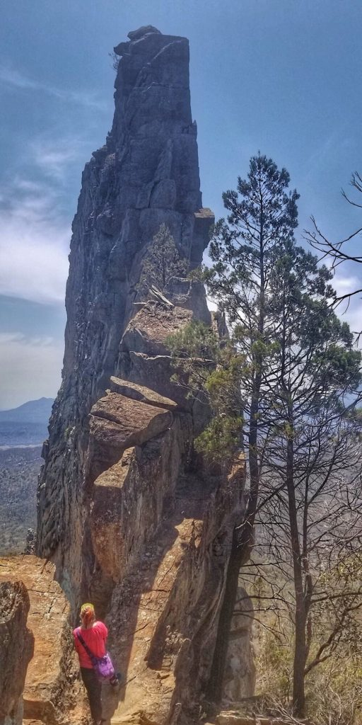 The Breadknife in Warrumbungle National Park, Country New South Wales, Australia