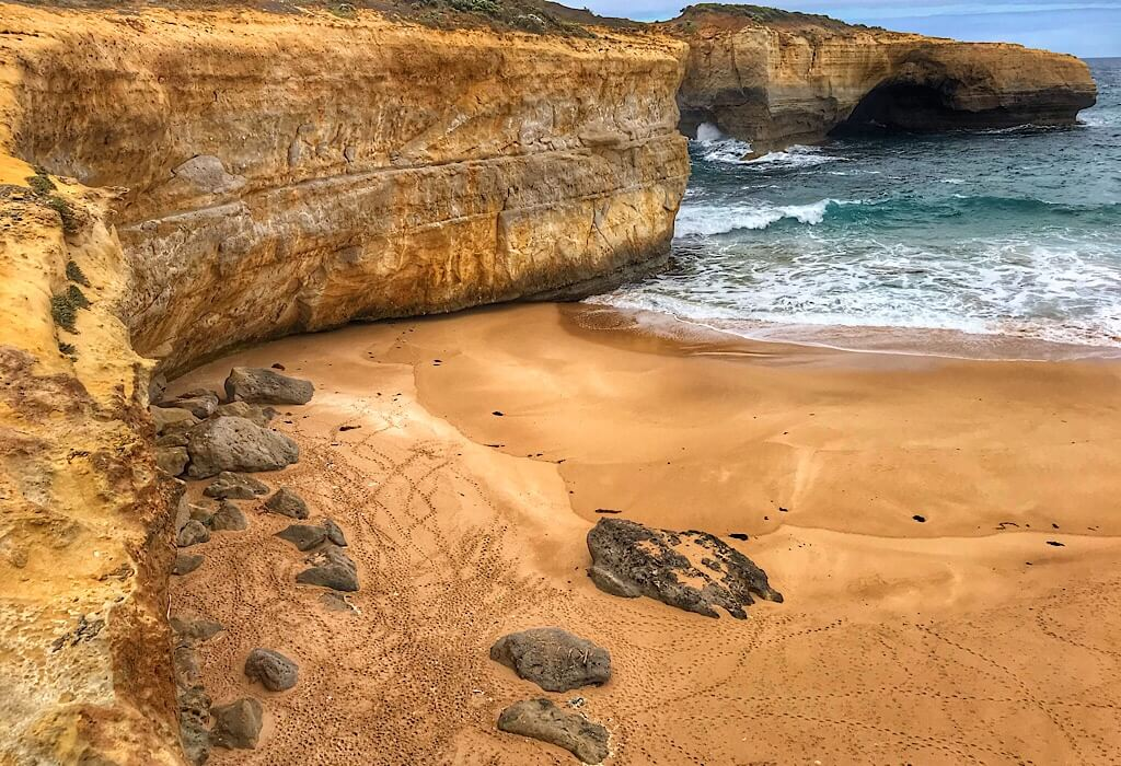 The London Arch along the Great Ocean Road, Victoria, Australia