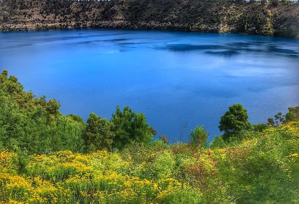 Blue Lake of Mt. Gambier in South Australia
