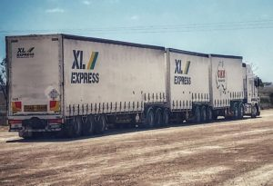 Road train with 46 tires
