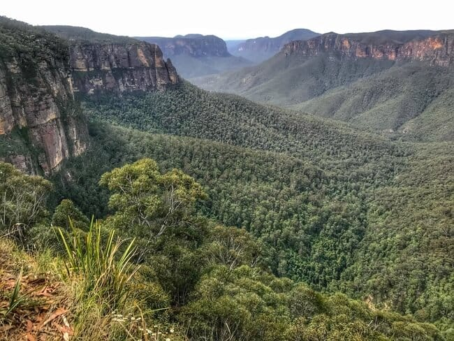 Blue Mountains of the Great Dividing Range Australia