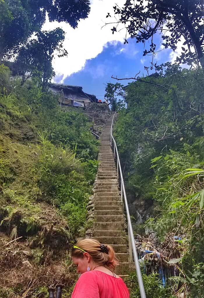 Stairs in Banaue Philippines