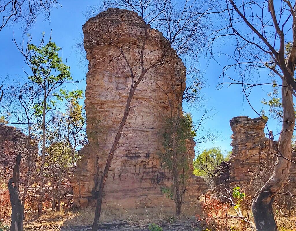 Rock pillars along the trails in Kakadu
