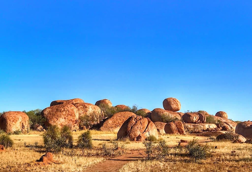 A field of boulders at Devils Marbles
