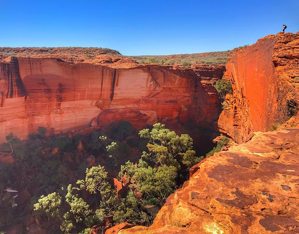 Looking up Kings Canyon towards the place of dreaming