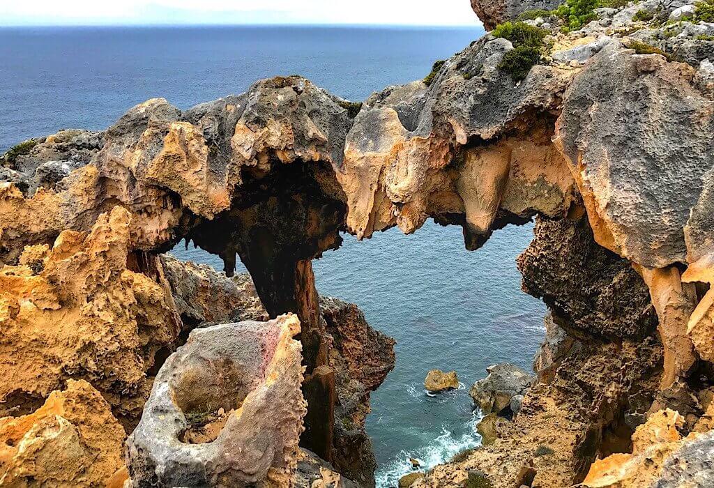 Limestone window to the ocean below in D'Entrecasteaux National Park