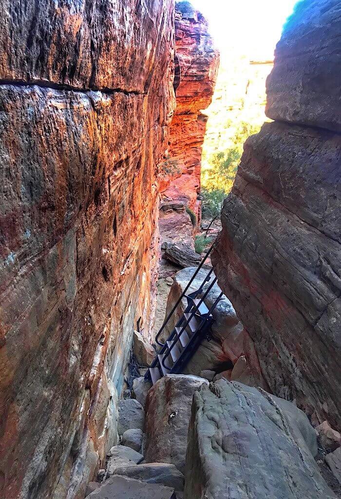 Rock scramble on a trail in Kilbarri