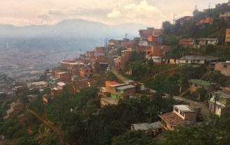 The sprawl of Medellin up the mountainside