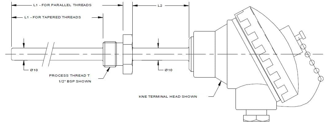 Thermocouple Drawings Gallery