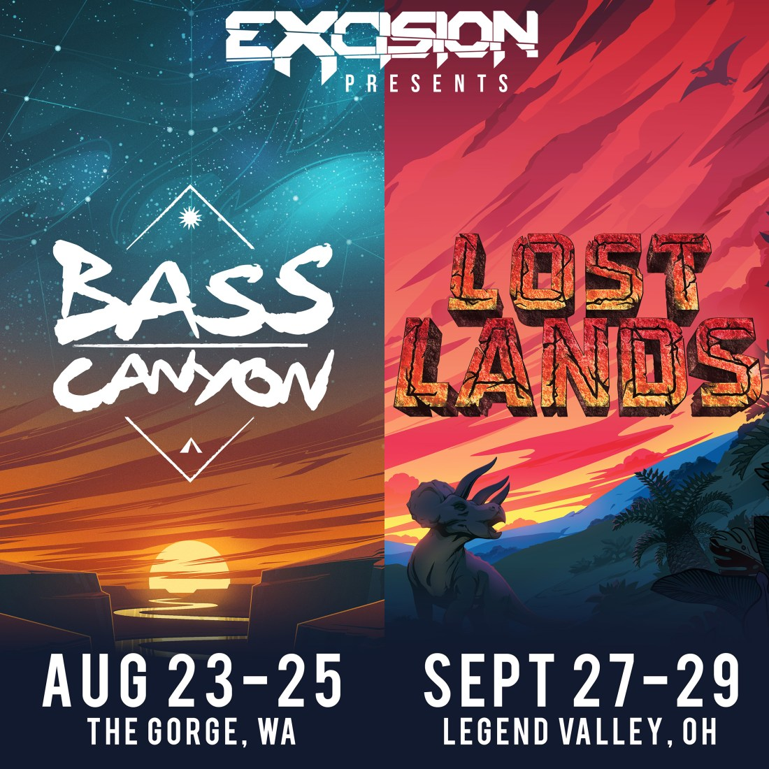 Image result for excision lost land bass canyon dates