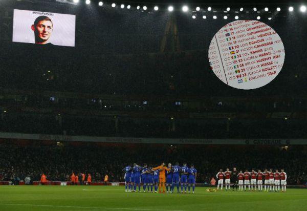 Video: Emiliano Sala, presente en el Arsenal-Cardiff de Inglaterra