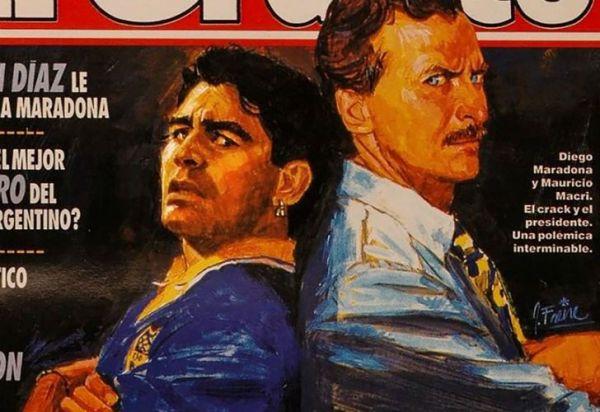 """Maradona remarcó su """"odio"""" a Macri con una tapa de El Gráfico"""