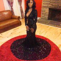 Burgundy Maroon Scarlet Formal Dress Prom Dress Sequin V ...