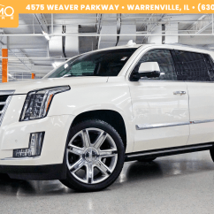 Captain Chairs Suv Best Price Gaming Chair Pre Owned 2015 Cadillac Escalade Premium Rear Entertainment Running Boards