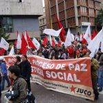 Por la paz, la justicia social y la unidad popular